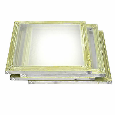 "4 Pack Aluminum Silk Screen Printing Press Screens 110 Frame Mesh 20"" x 20"""