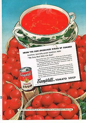 1949 OLD MAGAZINE PRINT AD, Campbell's Tomato Soup