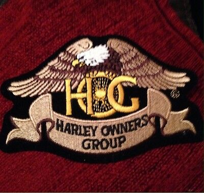 HOG Harley Owners Group Patch Harley Davidson Motorcycle New  4.75 x 3 inches