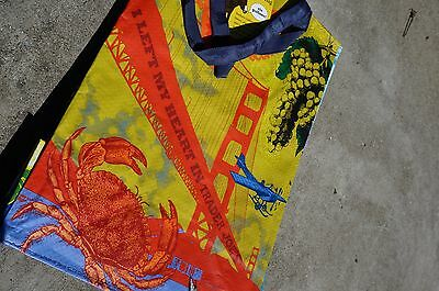 TRADER JOE'S  Shopping Bag Grocery Bag Reusable SAN FRANCISCO NAPA CALIFORNIA