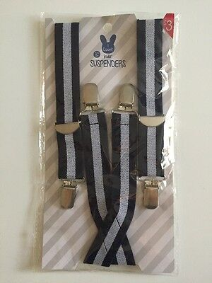 Kid's Suspenders Navy Stripe Boy's Easter