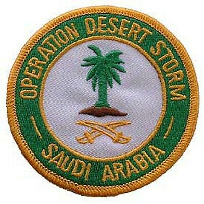 Operation Desert Storm Saudi Arabia Patch Biker Patches. Military Patches