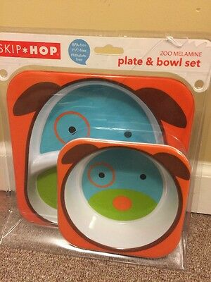 Zoo Mealtime Plate And Bowl Set
