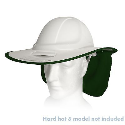 New Snap Brim Hat Sunshade For Hard Hats Protector Alsafe HC600 White Green Flap