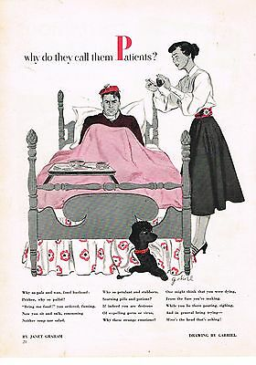 1949 OLD MAGAZINE PRINT AD, Patients