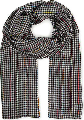 Paul Smith Scarf - Grey Signature Multi Stripe checked/BNWT/RRP: £119