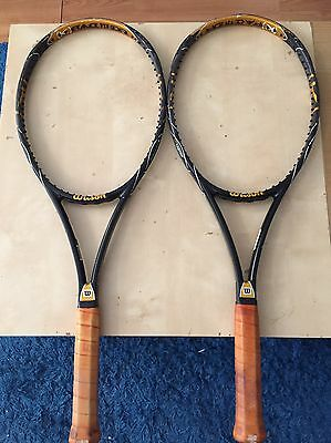 2 Used Wilson K Blade Tour 93 Tennis Rackets