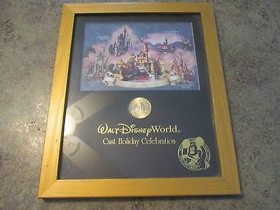 Walt Disney World Cast 2005 Holiday Celebration Cinderella Castle Coin in Frame