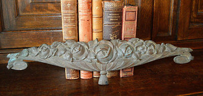 Antique French Floral Pediment Bronze Art Deco