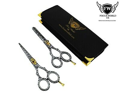 FW®- Professional Hairdressing Barber Hair Cutting Thinning Scissors Set .6""