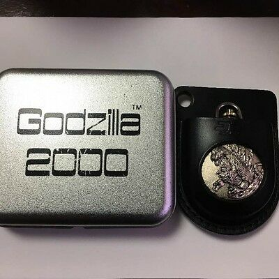 Used! Godzilla 2000 original limited edition pocket watch with operation manual
