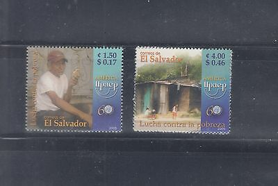El Salvador 2005 America Poverty Sc 1634-1635 Mint Never Hinged
