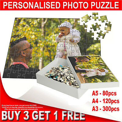 Personalised Printed Jigsaw Puzzle in Printed Box - Custom Photo Gift A5, A4, A3