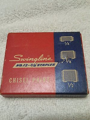 Swingline Staples chisel point high-carbon wire box. Free shipping
