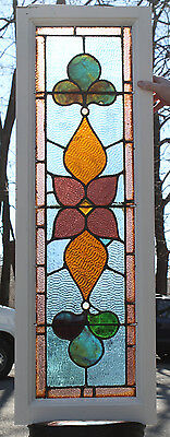 1920s Architectural Antique Victorian Stained Glass Window Transom