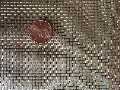"Stainless Steel 304 Mesh #10 .025 Wire Cloth Screen 12""x24"""