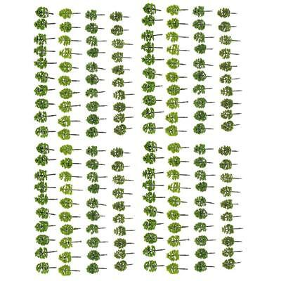 Pack/160pcs Model Trees 1:250 Z Scale Layout Train Scenery w/ Assorted Color