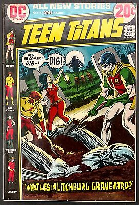 Teen Titans #41 1972 Solid Fn Minus Horror Cover,lilith Back Up