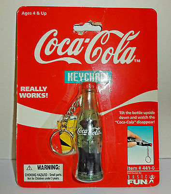 Coca Cola Filled Disappearing Coke Bottle Keychain Moc 1999