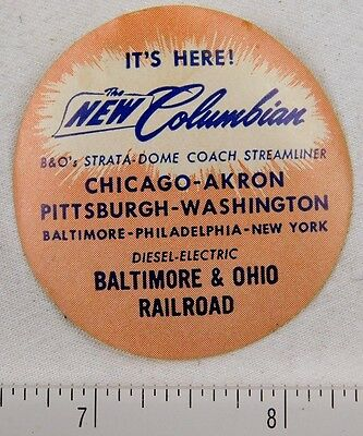 B&O's Columbian Strata-Dome Coach Streamliner Poster Stamp Luggage Label P312