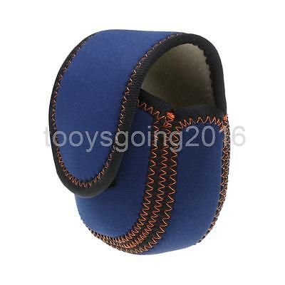 Fly Fishing Reel Cover Pouch Bag Holder Protective Case Fishing Tackle Blue