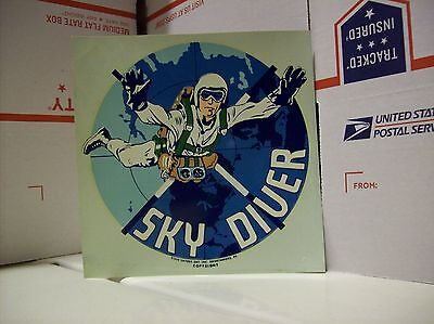 """Vintage SKY DIVER  DECAL new Skydiving 6"""" x 6.5"""""""