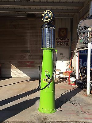 Vintage POLY GAS Visible Gravity Flow 10 Gal GB Gas Pump PRICE REDUCED!