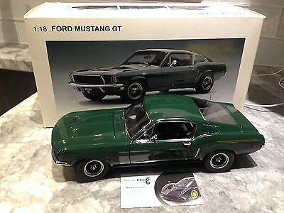 1/18 Autoart 1968 Ford Mustang Gt 390 Green Used Mega Rare Sold Out Hot