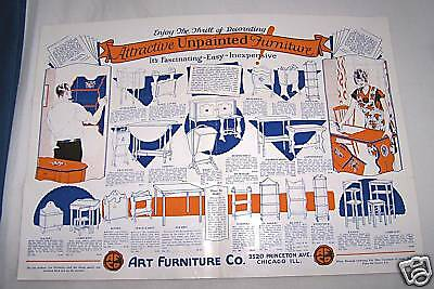 1930's Art Furniture Co-Chicago-Unpainted-Order Form-Ad-Brochure