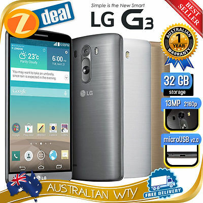 (New Sealed Box) Lg G3 D850 32Gb 4G Lte Factory Unlocked Phone + 12Mth Aus Wty