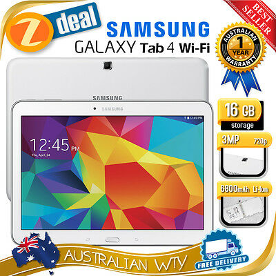 "(NEW SEALED BOX) SAMSUNG GALAXY TAB 4 SM-T530 16GB Wi-Fi 10.1"" + 12MTH AUS WTY"
