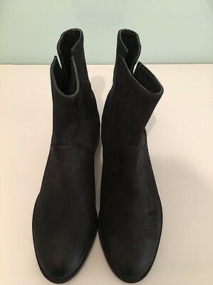 Brand New Country Road Women's Leather Ankle Boots Black/Size 38 RRP $199