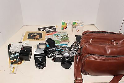 Canon AE-1 PROGRAM 35mm Film Camera + FD 50mm 1:1.8 Lens