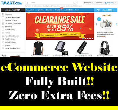 Website - eCommerce Super Store - No Extra Fees - For Sale - Home Based Business