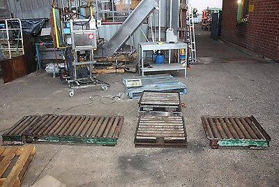 44 gallon drum weighing system scales AD-4322A 300KG + Roller conveyor sections