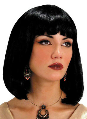 Egyptian Cleopatra Queen Of Nile Black Women Costume Wig