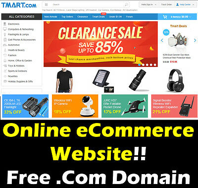 eCommerce Website - Online Store - Home Money Internet Based Business - For Sale