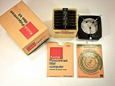 "KODAK POLYCONTRAST KIT MODEL A IN BOX W/""FILTER COMPUTER"" Never Used"