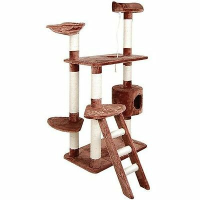 Cat Scratching Post Tree Gym House Furniture Condo Scratcher Pole 158cm Brown