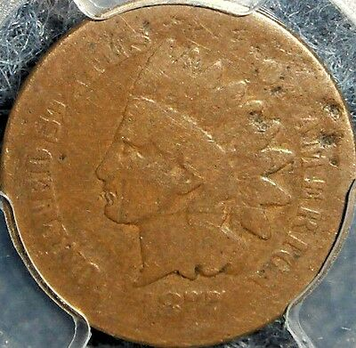 1877 Indian Head Cent **key Date** Pcgs Good Details **free Shipping**