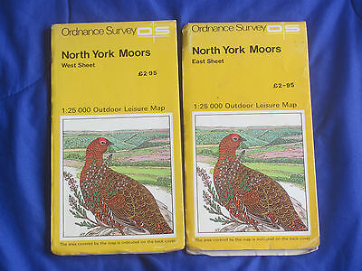 OS maps NORTH YORK MOORS east & west 2 double-sided map SET 1:25000 full colour