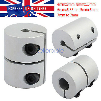 CNC Motor Shaft Joint Helical Beam Coupler Coupling Connector Dia 32mm L45mm UK