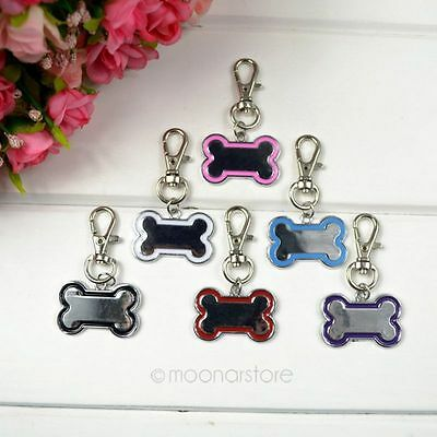 Stainless Steel Bone Shaped PET DOG TAG ID DOG CAT CHARM TAGS