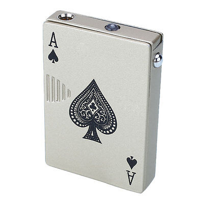 Poker Style Windproof Torch UV Money Note Detector Cigar Lighter Butane Gas
