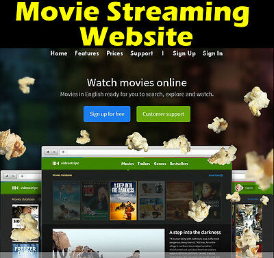 Website - Movie Streaming - Earn Money - No Extra Fees! For Sale - Home Business