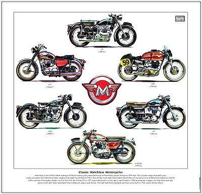 Matchless G9/g15/g45/g3/g12--Motorcycle Print