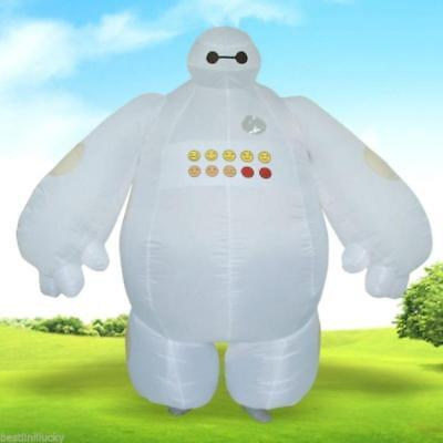 Big Hero 6 Adults Inflatable Baymax Costume Fancy Dress Mascot Cosplay Outfit A+