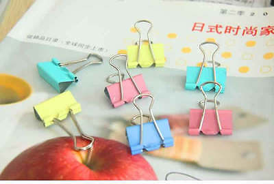 File 25mm Binder Clips Size Paper Metal 12 Pcs Note Clip Office Steel Medium