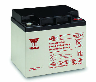 Yuasa Battery, Genuine, 12v / 38Ah Sealed Lead Acid Battery - NP38-12 FREE P&P