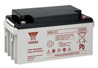 Yuasa Battery, Genuine, 12v / 65Ah Sealed Lead Acid Battery - NP65-12 FREE P&P